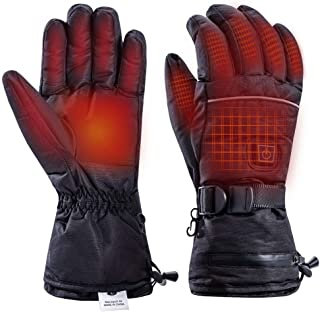 Battery Heated Gloves for Men Women, Winter Thermo Gloves Waterproof Insulated Hand Warms for Outdoor Sports, Motorcycle, Skiing, Climbing