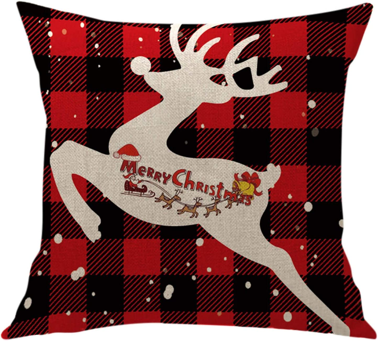 HSMQ 1PC Christmas Throw Pillow Trust Dedication Covers 18x18 Inches De