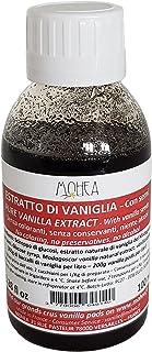 Ren vanilj extrakt/extrait de vanilj – bourbon/madagaskar – avec korn/med vaniljfrön – 200 g/L – 100 ml/100 ml