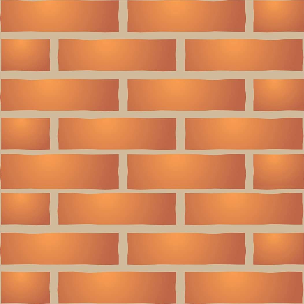 "Brick Wall Stencil (size 13""w x 8.5""h) Reusable Wall Stencils for Painting - Best Quality Brick Wall Stencil Ideas - Use on Walls, Floors, Fabrics, Glass, Wood, Terracotta, and More…"