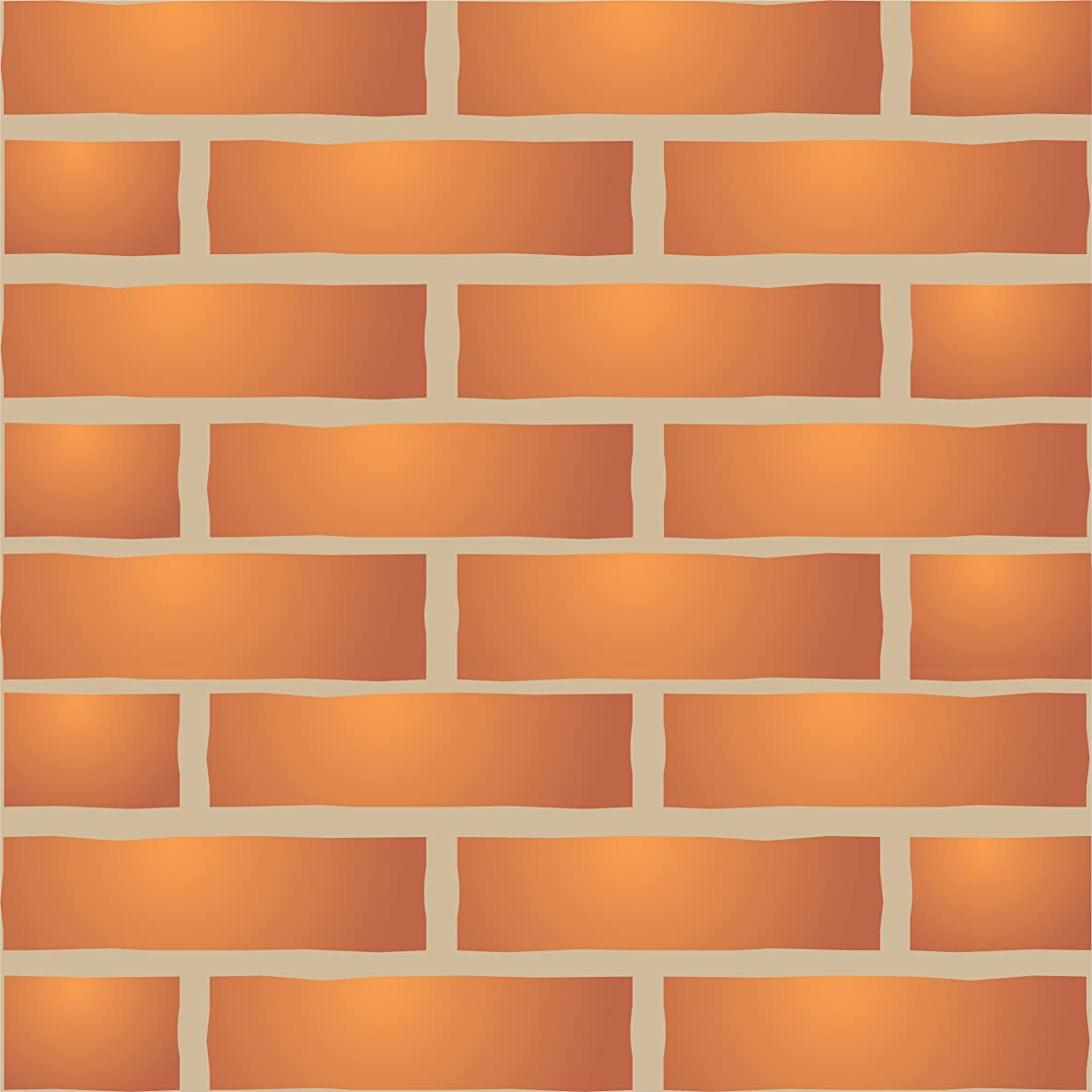 """Brick Wall Stencil (size 10""""w x 6.5""""h) Reusable Wall Stencils for Painting - Best Quality Brick Wall Stencil Ideas - Use on Walls, Floors, Fabrics, Glass, Wood, Terracotta, and More…"""
