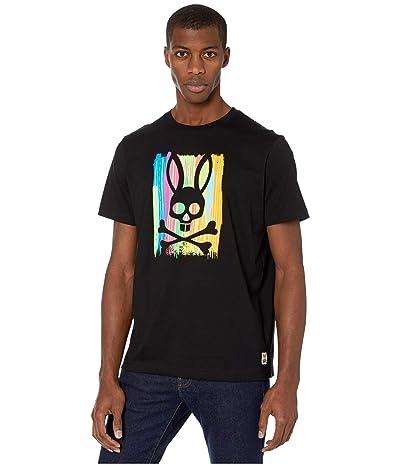 Psycho Bunny Printed T-Shirt (Black) Men