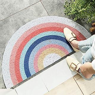 HelloTree Creative Semi-Circular Area Rug Anti Slip Door Mat Rainbow Sun Printing Floor Mats Bedroom Carpet Rugs Entrance ...