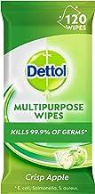 Dettol Multipurpose Antibacterial Disinfectant Surface Cleaning Wipes Crisp Apple 120 Pack (3041194)