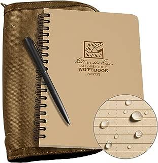 Rite in the Rain Weatherproof Side Spiral Kit: Tan CORDURA Fabric Cover, 4 5/8