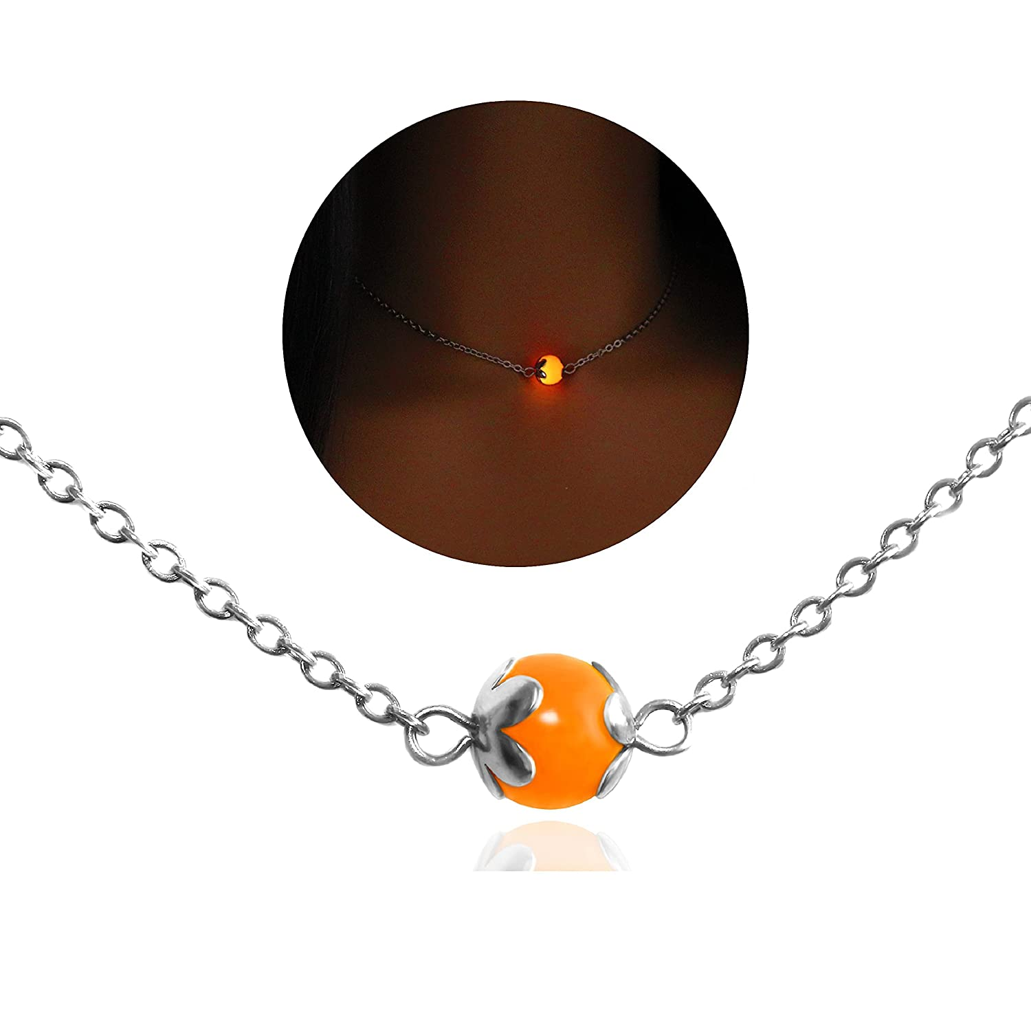 Glow in the dark Choker Recommendation Necklace Cho Steel Bead Magic Stainless Nippon regular agency