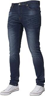 Kruze Designer Mens Skinny Fit Jeans Stretch Slim Denim Pants All Waist Leg Size