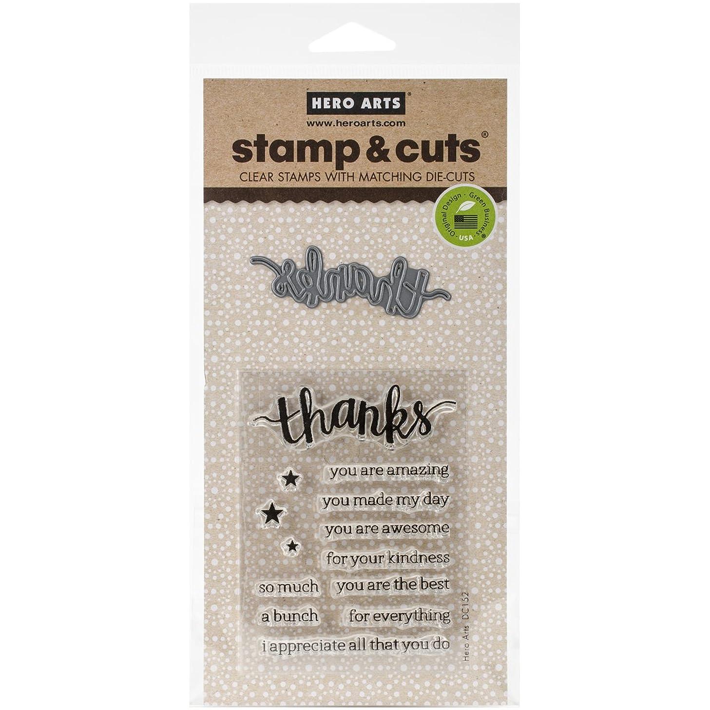 Hero Arts DC152 Stamp & Cut, Thanks
