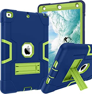 """BENTOBEN iPad 6th Generation Case, iPad 9.7 Kids Case 2017 2018, Slim Fit Soft Silicone Protection Hybrid Hard PC Shockproof Rugged Tablet Cover for iPad 9.7"""" A1893/A1954/A1822/A1823,Navy Blue/Green"""