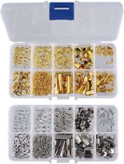 Prettyia 2 Box Jewelry Findings Jewelry Making Starter Kit with Jump Rings, Lobster Clasps, for Jewelry Making Supplies an...