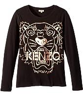 Kenzo Kids - Copper Tiger T-Shirt (Big Kids)