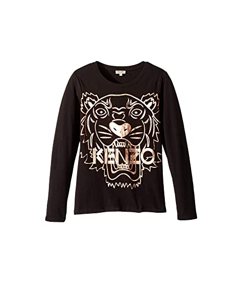 Kenzo Kids Copper Tiger T-Shirt (Big Kids)