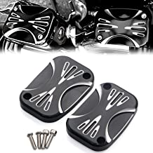 XMMT Aluminum CNC Shallow Cut Brake Master Cylinder Cover For Harley Touring Street Glide Road King & Tri Glide Ultra Classic