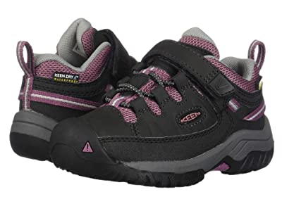 Keen Kids Targhee Low WP (Toddler/Little Kid) (Raven/Tulipwood) Girl