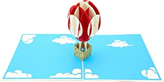 PopLife Hot Air Balloon & Sky 3D Pop Up Greeting Card for All Occasions - Travelers, Parents, Adventure Lovers - Folds Flat for Mailing - Birthday, Baby Shower, Graduation, Retirement, Anniversary