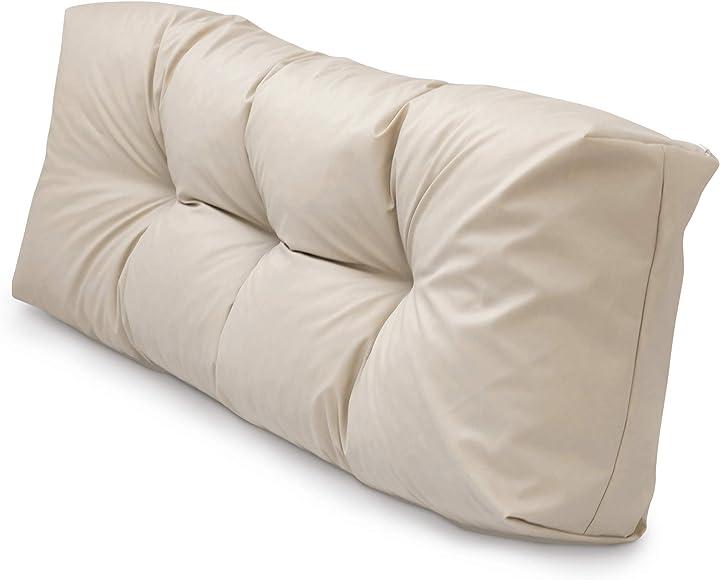 Cuscini per pallet sfoderabili impermeabile rivestimento trapuntato cuscino per bancale - spatium B07VP221P6