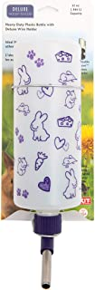Lixit 32oz Water Bottles with Heavy Duty Mount for Rabbits Ferrets and Other Small Animals. (Frosted)