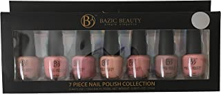 7 Full Size Bottles Glossy Matte (not Pearl or Metallic) Pink Rose Mauve Nude Natural Taupe Nail Polish Gift Set Collection