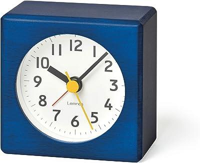 レムノス 置き時計 アナログ アラーム時計 ファルベ 青 farbe PA18-02BL Lemnos サイズw70×h70×d42