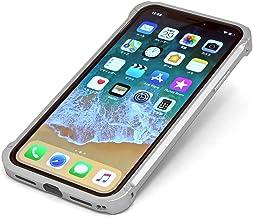 DECASE Lock for iPhone XS/X 高精度アルミニウム バンパー ケース 取付工具不要・簡単ワンタッチ脱着 アイフォンXS/S ディケース ロック (シルバー)