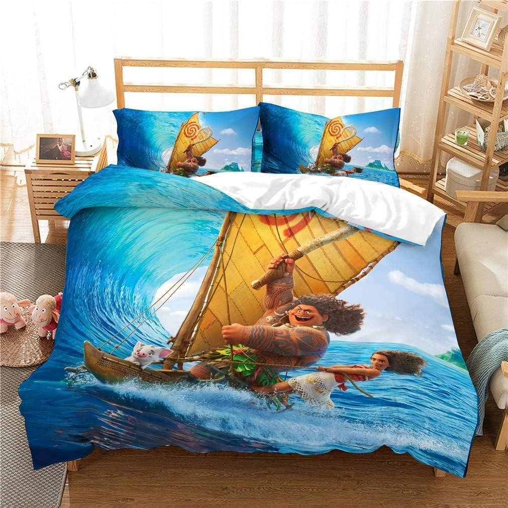 Parure de lit avec housse de couette et 3 pièces Monna Movie en microfibre lavée Style 1
