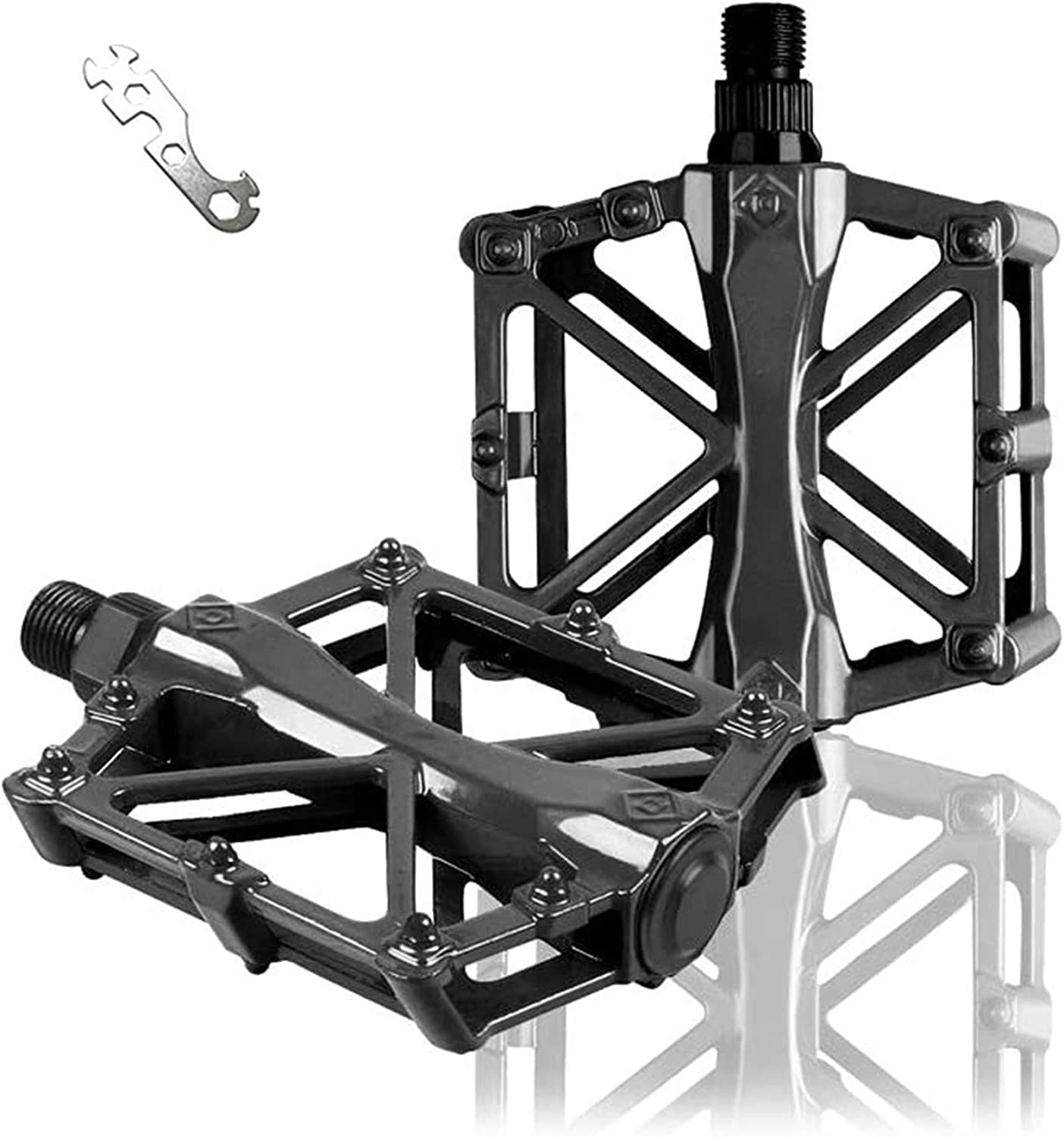 Haoliving Mountain Bike Pedals Super-cheap with Wrenches Bicycle Ultra Light Ranking TOP8