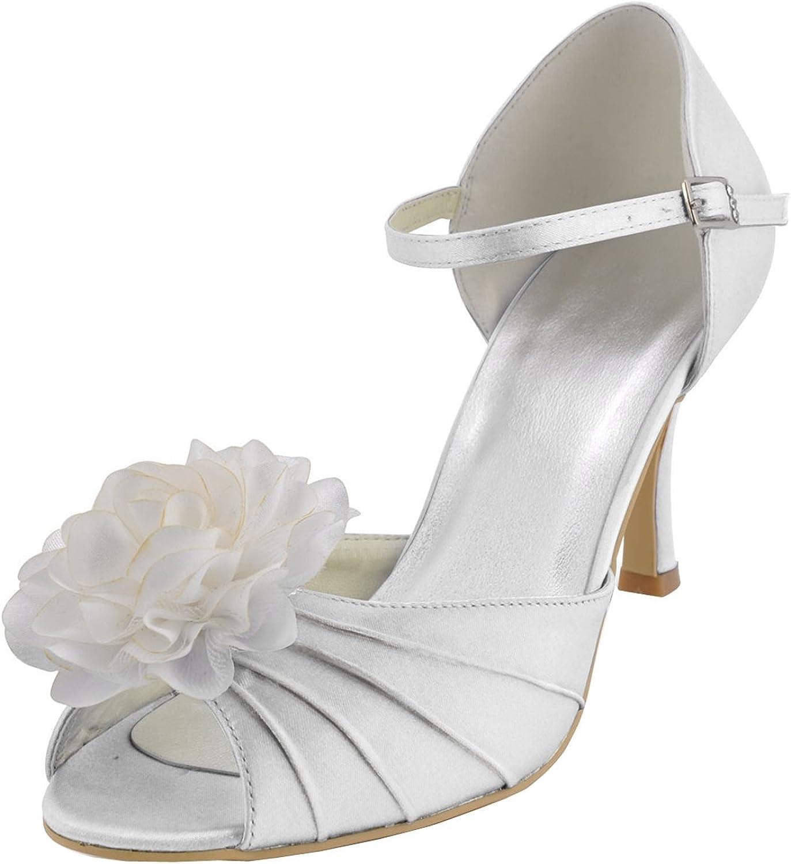 Minitoo GYMZ666 Womens Single Strap Satin Evening Party Bridal Wedding Evening Sandals