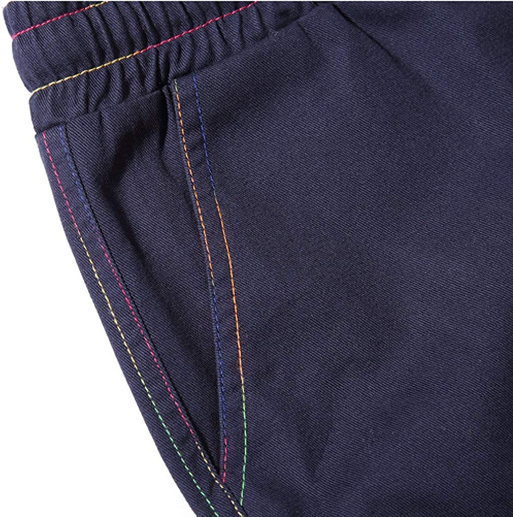 DIOMOR Mens 100% Cotton Outdoor Elastic Waist Cargo Shorts Casual Fashion Athletic Drawstring Beach Trunks Hiking Pants