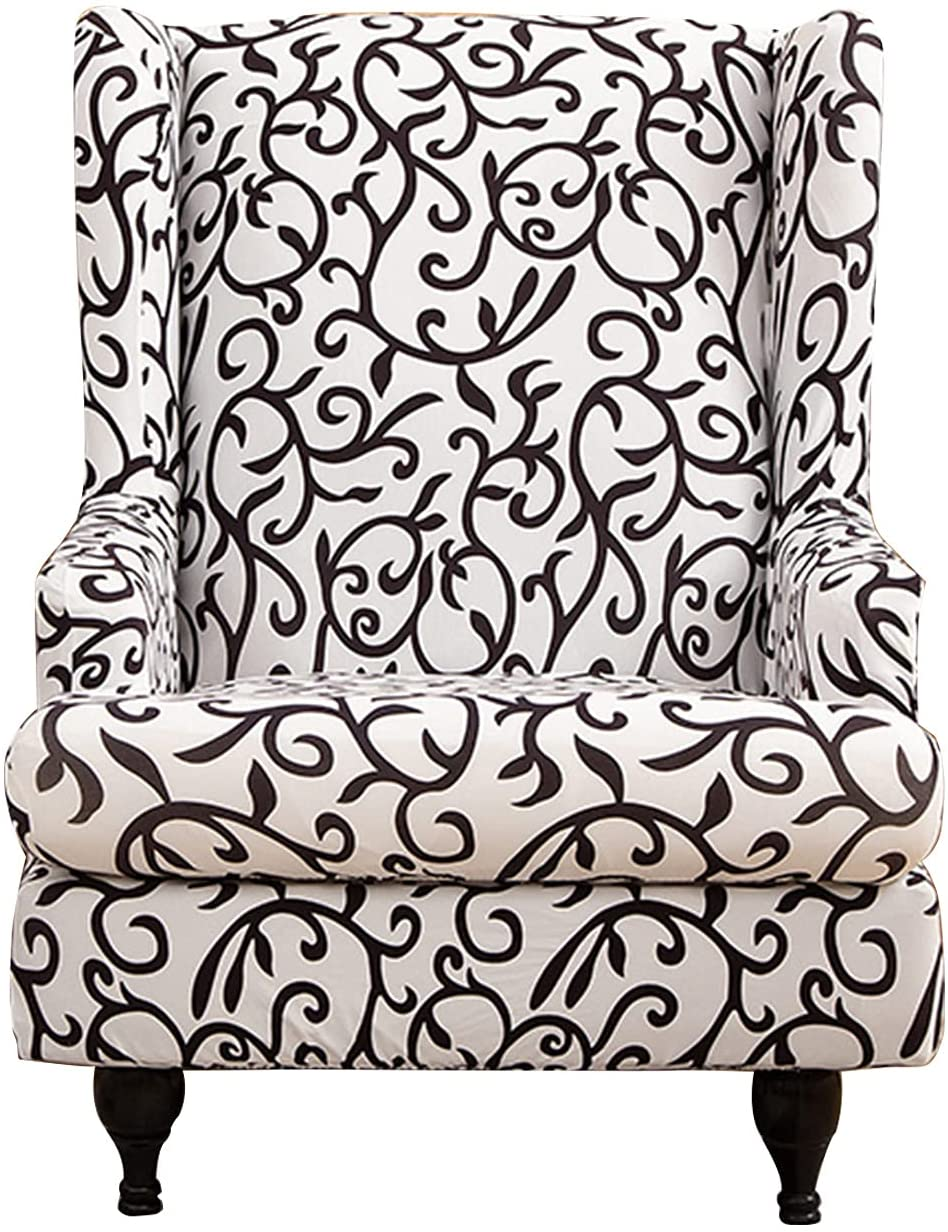 CRFATOP Printed Wing Chair ! Super beauty product restock quality top! Slipcovers Piece Stretch Wingback C Sale item 2