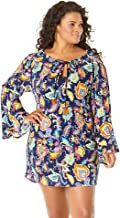 Anne Cole Women's Plus-Size Tunic Cover Up Dress