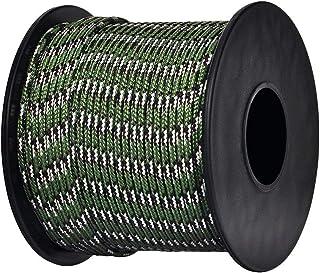 Brotree Paracord Nylon Seil mit 3 Strängen Fallschirmschnur Reißfestem Kernmantel Seil Standard, Reflektierende
