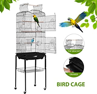 bird cages with play tops
