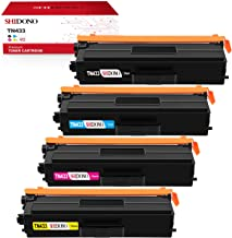 Shidono Compatible Toner Cartridge Replacement for Brother TN433 Fits with DCP-L8410CDW/HL-L8260CDW/ HL-L8360CDW/ HL-L8360CDWT/ HL-L9310CDW/ HL-L9310CDWT Printer, 4-Pack [Black/Cyan/Yellow/Magenta]
