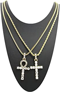 Best iced out ankh cross Reviews