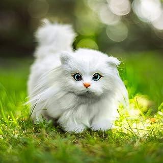 The Queen's Treasures حیوانات خانگی بسیار جذاب برای عروسک های 18 اینچی گربه سفید بچه گربه اسباب بازی عروسکی همسفر عالی است که با عروسک دختر آمریکایی و عروسک های 18 اینچی دیگر سازگار است!