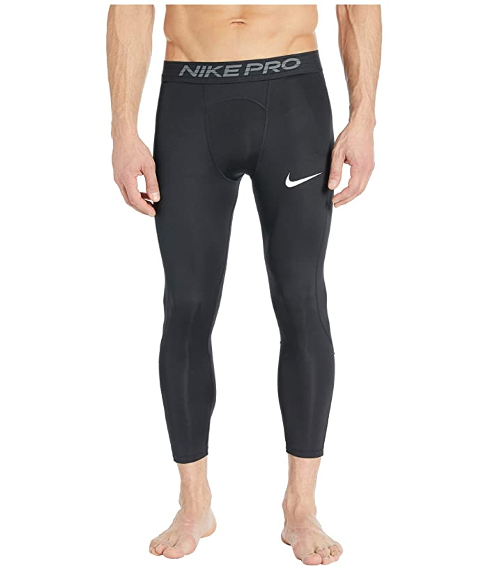 Nike   Pro Tights 3/4 (Black/White) Mens Casual Pants