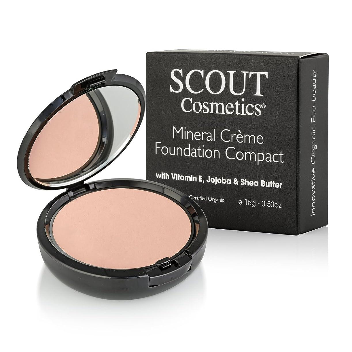 呼吸するスコア下にSCOUT Cosmetics Mineral Creme Foundation Compact SPF 15 - # Shell 15g/0.53oz並行輸入品