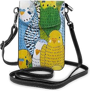 スマホポーチ お財布ポシェット インコ おもしろい鳥 カラー 電話バッグ ミニバッグ 斜め掛け ポシェット 財布 収納 持ち運びに便利 カード スマートフォンポーチ スマートフォンケース 汎用 防水 おしゃれ 小物入れ プレゼント