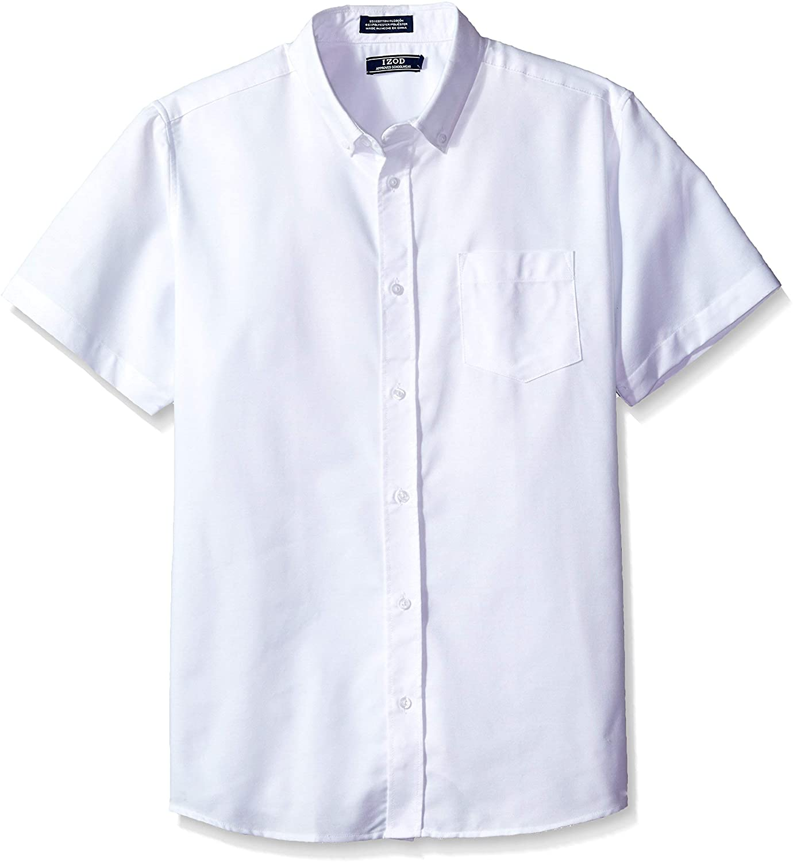IZOD Uniform Young Men's Short Sleeve Button-down Oxford Shirt