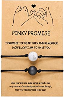 Long Distance Matching Bracelets for Couples Best Friends Relationship BFF Friendship Gifts His and Hers Bracelet for Boyf...