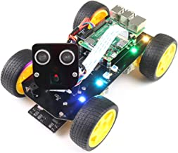 Freenove 4WD Smart Car Kit for Raspberry Pi 4 B 3 B+, Face Tracking, Line Tracking, Light Tracing, Obstacle Avoidance, Colorful Light, Camera Ultrasonic Servo Wireless RC