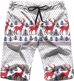 Winter Festive Christmas Knitted Woolen Fair Mens Boardshorts Swim Trunks Quick-Drying Running Shorts