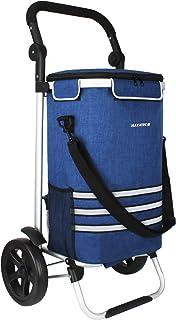 Alaskaprint Einkaufstrolley 35L, Einkaufsroller mit Kühlfach klappbarer Einkaufswagen abnehmbare Tasche Handwagen mit Roll...