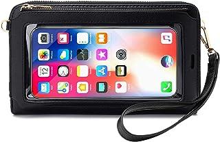 Crossbody Bolso para Teléfono Celular para Mujer - Bandolera para Teléfono Móvil Mujer con Función de Cepillo Antirrobo,pa...