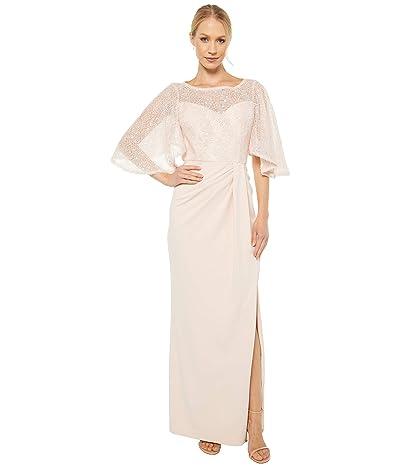 Adrianna Papell Flutter Sleeve Gown (Light Blush) Women