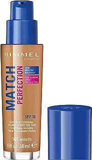 Rimmel London Match Perfection Foundation, 501 Noisette, 123 grams