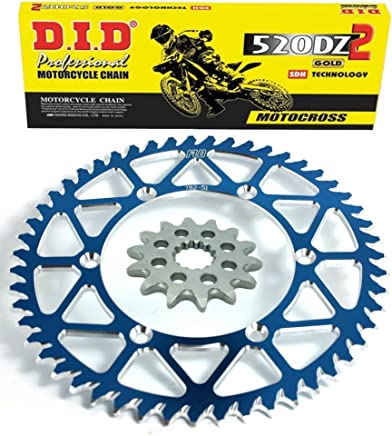 RENTHAL R1 Chain and Sprocket Combo Kit KAWASAKI KX450F FRONT SPROCKET 14T REAR SPROCKET 48-53 TOOTH GREEN//BLACK// BLUE 50T, Black
