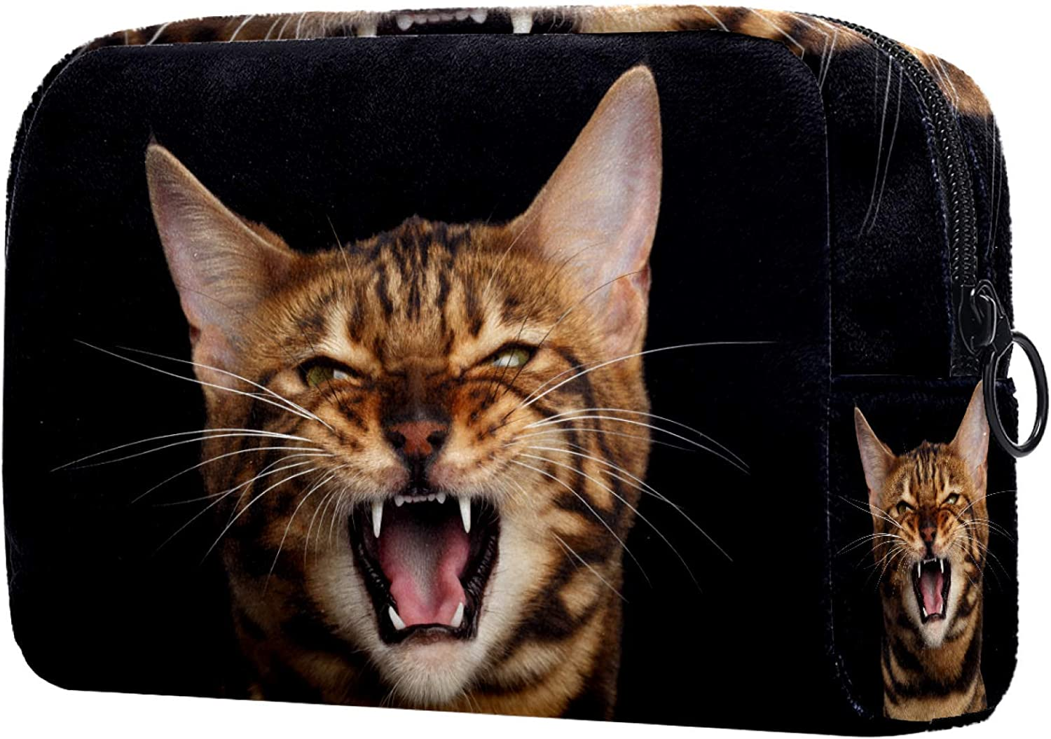 Cosmetic Bag for Sale Max 79% OFF special price Women Roomy Makeup Travel Water cat Bags Bengal