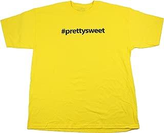 Girl Skateboard Shirt Pretty Sweet Hashtag Yellow Size M