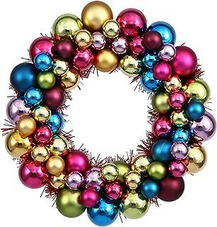 Vickerman Ball Wreath, 24-Inch, Multicolored